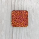 18mm Square cabochon with flowers in Crystal Volcano