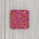 18mm Square cabochon with flowers in Crystal Iris