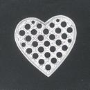 M68 - 2.4cm heart shaped sieve in Platinium