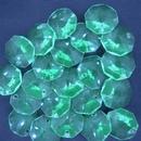 14mm Fluorescent Green Octagon Rivoli