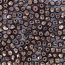 50 x 3mm faceted beads in Dark Bronze
