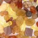 25g of pressed beads in Brown from Preciosa