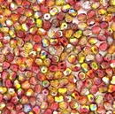 50 x 4mm faceted Magic Apple beads