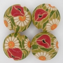 CLB-082-C-M Poppy Meadow lentil bead