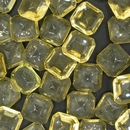 Cab46 - 14mm square cabochon in Yellow (Vintage)