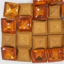 Cab50 - 14mm square cabochon in Topaz (Vintage)