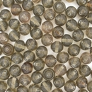 15 x 6mm shaped beads in Grey (1960s)