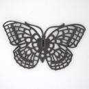 M81 - 5.1cm Filigree butterfly pressing in Black