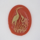 40 x 30mm Coral Red Cameo CAM02 (Vintage)