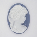 Cam04 - 40x30mm Cameo in Blue (Vintage)