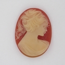 29x22mm Coral Red Cameo CAM07 (Vintage)