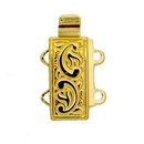 Claspgarten Gold clasp with 2 rows 12597 - 12x6mm
