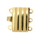 Claspgarten Gold clasp with 3 rows 12660w - 12x7.5mm