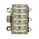 Claspgarten Silver clasp with 3 rows 12731 - 19x10mm