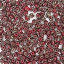 Superduo beads in Opaque Red Picasso