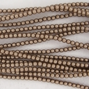150 x 2mm pearls in Taupe Satin
