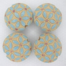 CLB-034-A-M Blue Leaves lentil bead