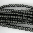 50 x 2mm pearls in Charcoal