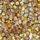 50 x 6mm faceted Magic Green beads