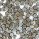 25 x 5mm faceted nailhead beads in Brown Marble (modern)