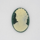 25x18mm Emerald Green Cameo CAM24 (Vintage)