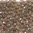 50 x 4mm faceted Green Lustre beads