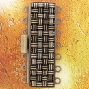 Claspgarten Old Brass textured clasp with 7 rows 13517 - 37x11mm
