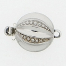 Claspgarten Silver clasp with 1 row 12710 - 11mm