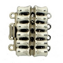 Claspgarten Silver bamboo clasp with 4 rows 13728 - 20x12.5mm