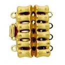 Claspgarten Gold bamboo clasp with 4 rows 13728 - 20x12.5mm