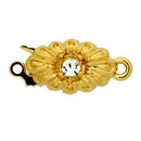 Claspgarten Gold clasp with 1 row 13926 - 13x8mm
