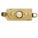 Claspgarten Gold clasp with 1 row 13321 - 12x6mm