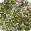Superduo beads in Olivine Vitrail