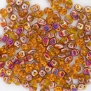 Superduo beads in Amber Sliperit
