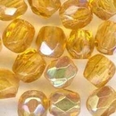 50 x 4mm faceted beads in Light Topaz AB