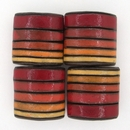 CPB-021-A-XL pillow bead in Red, Orange and Yellow Stripes