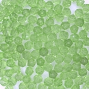 5mm faceted Green beads (1920s)