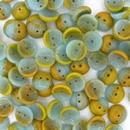 25 x piggy beads in Blue/Brown