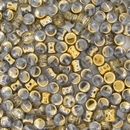 50 x Crystal Amber Pellet beads