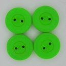 16mm glass button in Neon Green