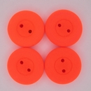 16mm Glass button in Neon Orange