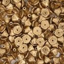 25 x Aztec Gold Flower cups (7x5mm)