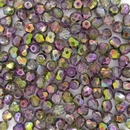50 x 4mm faceted Magic Orchid beads
