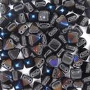 10 x Two hole Black Azuro 6mm Pyramids