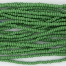 1 string of Size 13 Opaque Green Czech charlottes