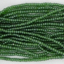 1 string of Size 13 Green Lustre Czech charlottes