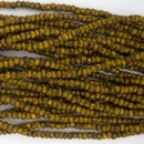 1 string of Size 11/0 Czech charlottes in Yellow Travertin