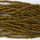 1 string of Size 11 Yellow Travertin Czech charlottes
