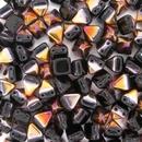10 x 6mm pyramids in Black Sliperit