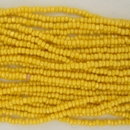 1 string of Size 11 Yellow Lustre Czech charlottes